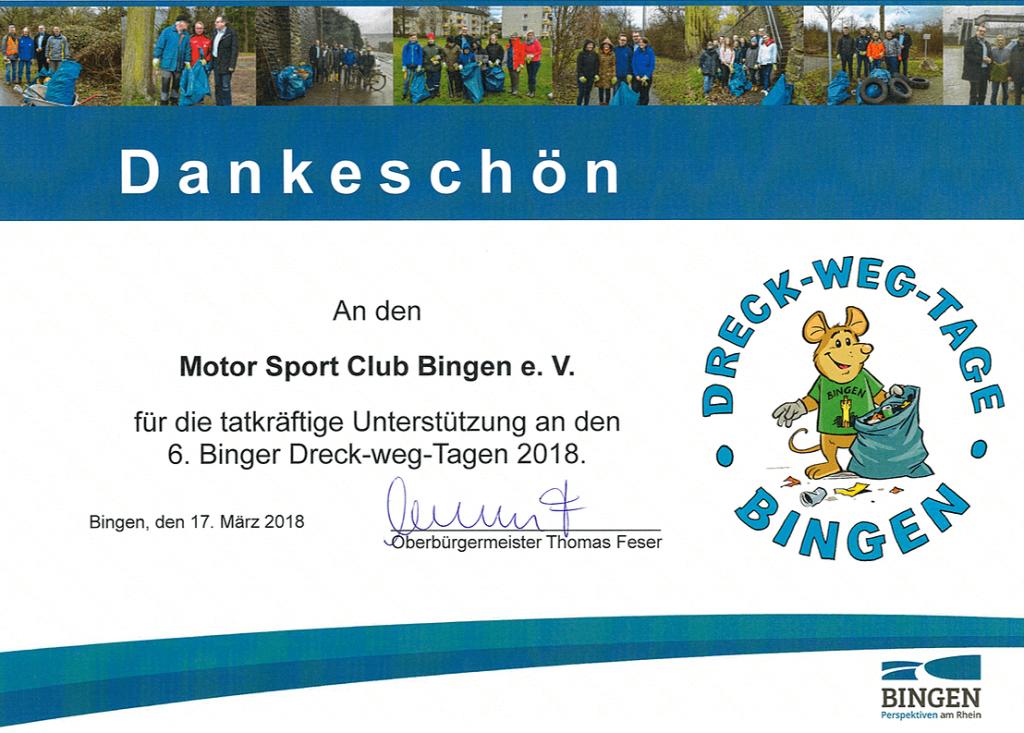 6. Dreck weg Tag - MSC Bingen e.V.