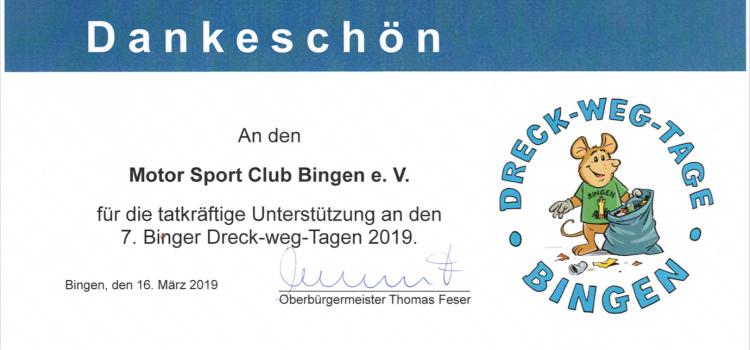 Urkunde 7. Binger Dreck Weg Tag Motor-Sport-Club Bingen ADAC