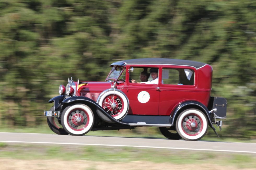 Karin & Norbert Jäkle im Ford Model A (1930) auf der Mainzer Automobil Classic 2019
